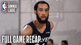 TIMBERWOLVES vs HEAT | MIN Completes 20-Point Comeback | MGM Resorts NBA Summer League