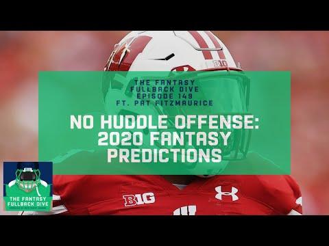 No Huddle Offense: Pat Fitzmaurice 2020 Fantasy Football Predictions