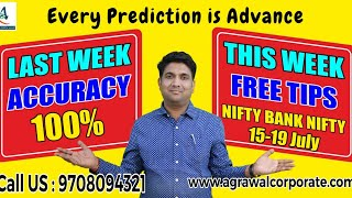 NIFTY NEXT WEEK ADVANCE PREDICTION(15-19 JULY) | Stock Market | Technical Analysis | Mukul Agrawal