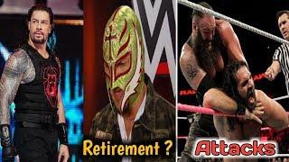 Brown Strowman Attacks Seth Rollins ? ! Mysterio Consider retirement ! WWE News Hindi