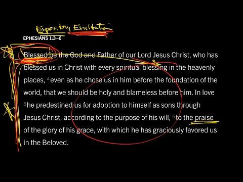 Ephesians 1:36 // Part 1 // Studying the Bible as Worship