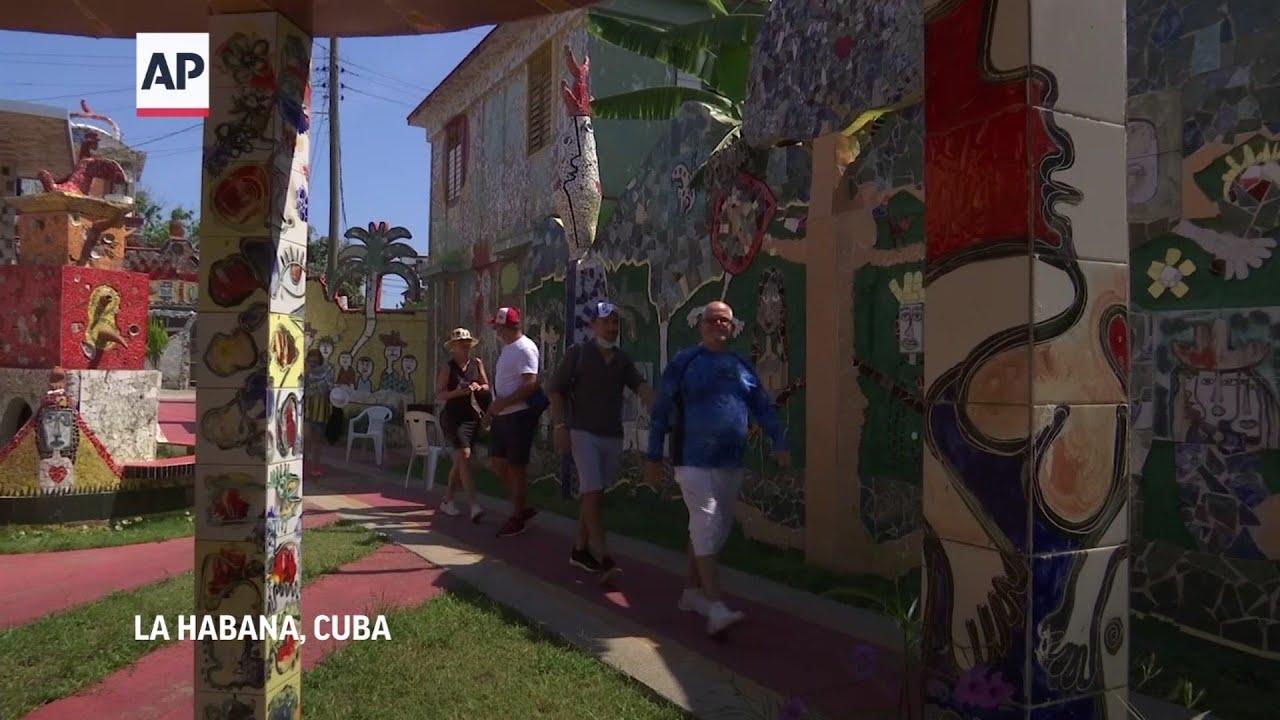 Artista Cubano transforma su barrio en una gigantesca galería al aire libre