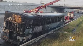 Greyhound Bus Catches Fire In Baltimore County Along I-95 Tuesday