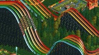 RollerCoaster Tycoon 2 - X5 Rainbow RollerCoaster - Giant