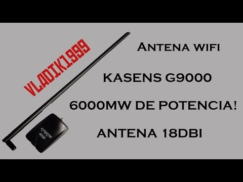 Tarjeta wifi Kasens G9000 6000mw 18dbi (UNBOXING + TEST)  DealXtreme - default