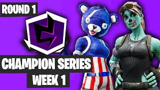 Fortnite Champion Series Trio Week 1 Highlights Round 1 [Fortnite Trios Tournament 2019]