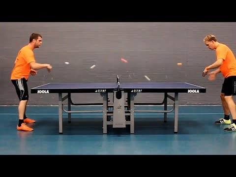 Guys Play Ping Pong With FIVE Balls | Racquet Sports Compilation - UCIJ0lLcABPdYGp7pRMGccAQ