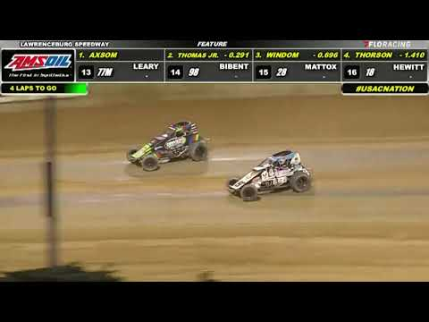 USAC AMSOIL National Sprint Car Highlights | Lawrenceburg Speedway | Fall Nationals | 10/2/2021 - dirt track racing video image