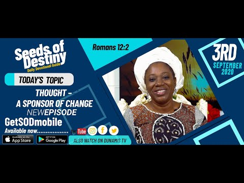 Dr Becky Paul-Enenche - SEEDS OF DESTINY - THURSDAY SEPTEMBER 3, 2020