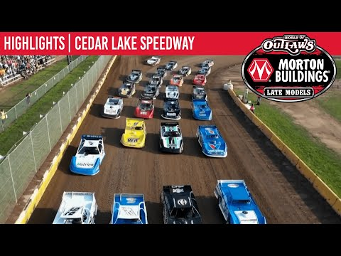 World of Outlaws Morton Building Late Models at Cedar Lake Speedway August 6, 2021   HIGHLIGHTS - dirt track racing video image