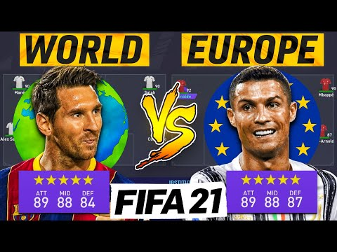 Europe's Best Players Vs The Rest of The World | FIFA 21 Experiment