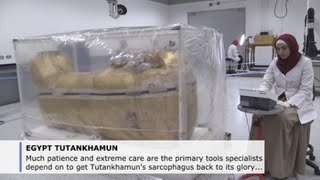 Care, patience to get Tutankhamun's coffin back to its former glory