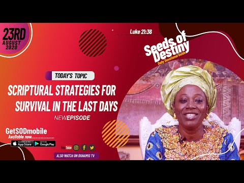Dr Becky Paul-Enenche - SEEDS OF DESTINY - SUNDAY AUGUST 23, 2020