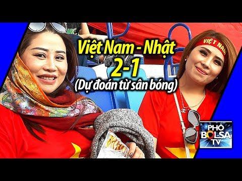 Việt Nam thắng Nhật Bản: 2-1 (CĐV Việt Nam dự đoán từ sân bóng)
