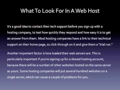 What To Look For In A Web Host