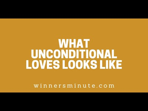 What Unconditional Loves Looks Like // The Winner's Minute With Mac Hammond