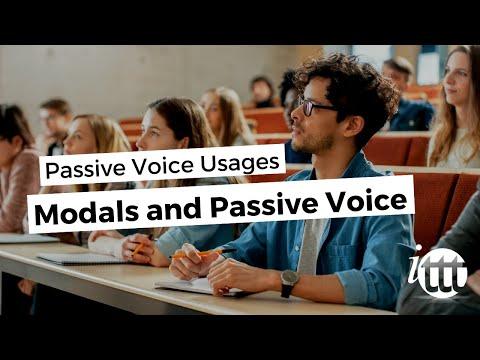 Modals and Passive Voice - Passive Voice Usages