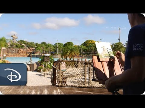 Sketches From The Park: Disney Artist Will Gay Paints Miss Tilly at Disney's Typhoon Lagoon - UC1xwwLwm6WSMbUn_Tp597hQ