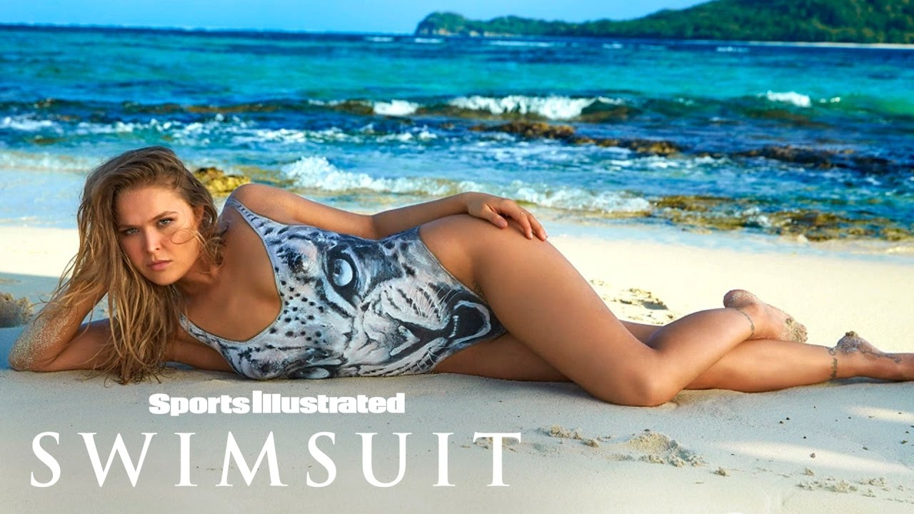 Ronda Rousey Undresses For Body Paint Shoot   Outtakes   Sports Illustrated Swimsuit