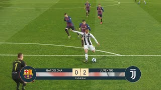 FC BARCELONA vs JUVENTUS - Barca vs Juve - Ronaldo vs Messi - PES19