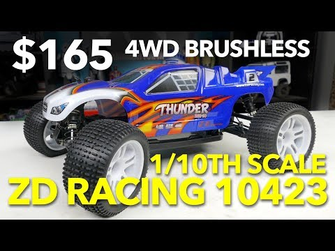 $165 4WD Brushless 1/10th Scale Truggy: ZD Racing 10423 Thunder - UCiqTEhDiWz1eb7exfWiy5TA