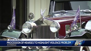 Procession of hearses in Avondale to highlight violence problem