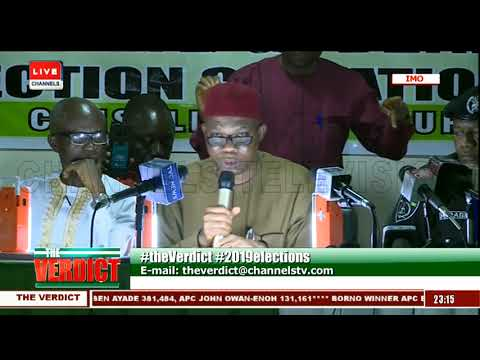 Imo State Governorship Election Result Collation Pt 4  The