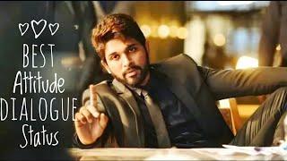 Watch Allu Arjun Best Attitude Dialogue Whatsapp Status