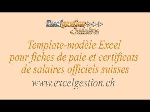 Excelgestion Salaires Tutoriel Fiches de paie et Certificats de salaire officiels suisses sur PC/Mac - UCEFTC4lgqM1ervTHCCUFQ2Q