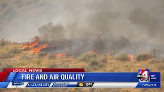 Fire to bring poor air quality over the weekend