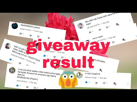 giveaway results 😱