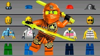 LEGO NINJAGO Build Helicopter, BATMAN Build New LEGO Car - LEGO Juniors Create & Cruise