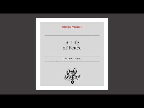 A Life of Peace - Daily Devotion