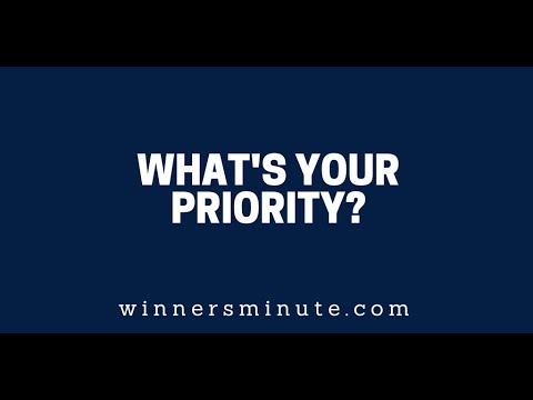 What's Your Priority?  The Winner's Minute With Mac Hammond