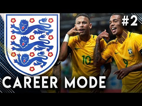 FIFA 19 England Career Mode EP2 - New Captain, New Formation!! Insane Game VS Brazil!!