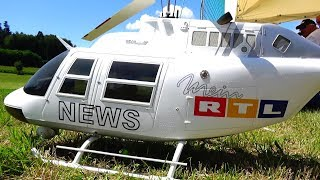 LARGE RTL NEWS STUNT RC TURBINE BELL JETRANGER MODEL HELICOPTER