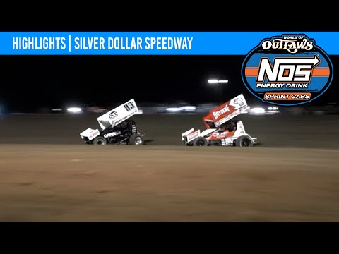 World of Outlaws NOS Energy Drink Sprint Car Silver Dollar Speedway, September 11, 2021   HIGHLIGHTS - dirt track racing video image