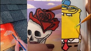 People Painting Things on TikTok for 7 Minutes Straight Part 4 | ToasterStrudel
