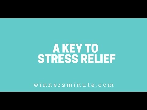 A Key to Stress Relief // The Winner's Minute With Mac Hammond