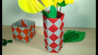 Easy Origami Flower And Leaves Diy Spring Room Decor Diy Wall