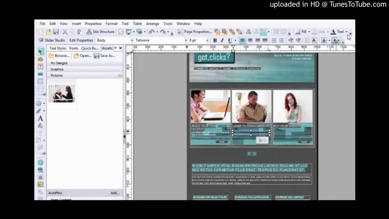 Serif WebPlus X8 Lesson 2 - Sliders and Panels