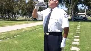 Taps by Jeff for Veterans Flag Lowering