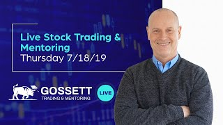 Live Stock Trading & Mentoring - Thursday 7/18/19 - During the last hour of the US Stock Market