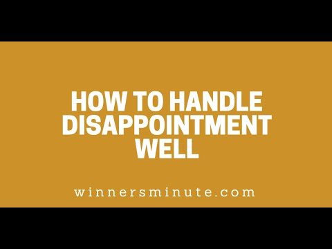 How to Handle Disappointment Well // The Winner's Minute With Mac Hammond