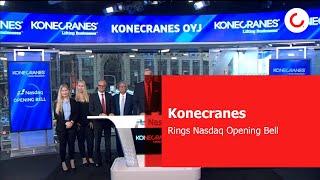 Konecranes rings Nasdaq Opening Bell, 5 September 2017