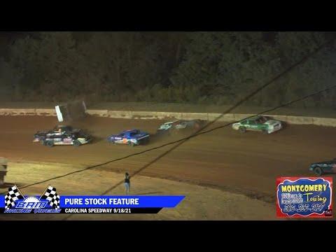 Pure Stock Feature - Carolina Speedway 9/18/21 - dirt track racing video image