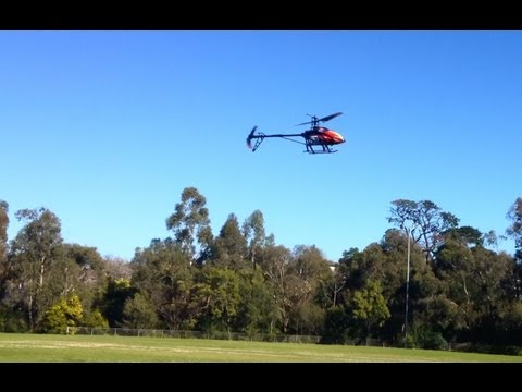 v913 RC Helicopter first flight and then again with adjusted servo arms - UCIJy-7eGNUaUZkByZF9w0ww