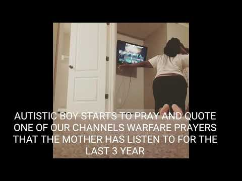 TESTIMONY OF AUTISTIC CHILD STARTS TO PRAY OVER HIS MOTHER