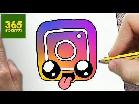 Youtube Como Dibujar Logo Instagram Kawaii Paso A Paso Dibujos
