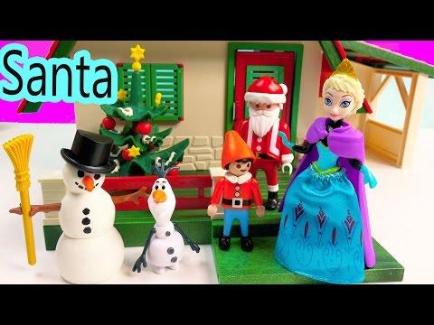 Magiclip Disney Frozen Queen Elsa Santa's Home Christmas Holiday Build A Snowman Olaf Elf Playset - UCelMeixAOTs2OQAAi9wU8-g